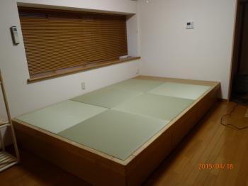 リビングにゆったりできる畳スペースが完成し、足の不自由なおじい様に喜ばれました。