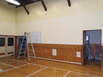 汚れていた内壁が綺麗になりホール全体が明るくなりました。