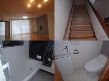 浴室、トイレ、キッチン等の水まわりリフォームとリビングが一新されました。