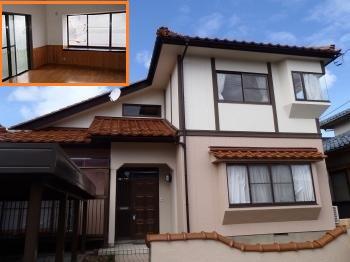 劣化が進んでいた外壁がツートン色でモダンな外壁へとリフォームされました。内装が明るくなり、オール電化工事で家計に優しい住まいへと変わりました。
